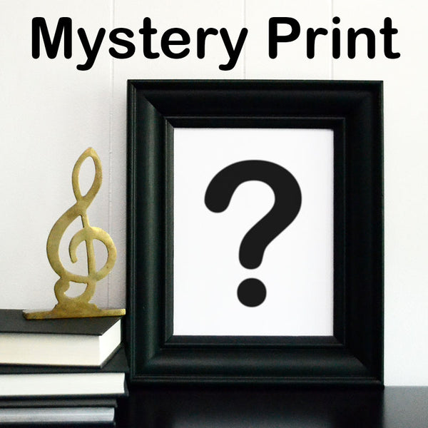 Mystery Music Note Art Print