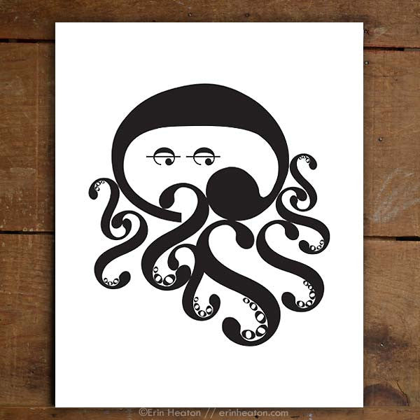 Octopus Music Art Print