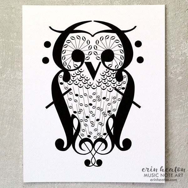 Owl Music Art Print