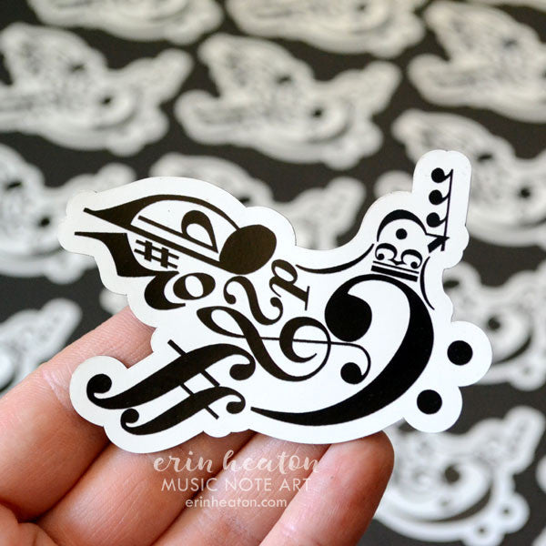 Music Note Peace Dove Magnet