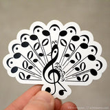 Music Note Peacock Magnet