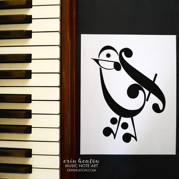 Bird Music Art Print | erinheaton.com