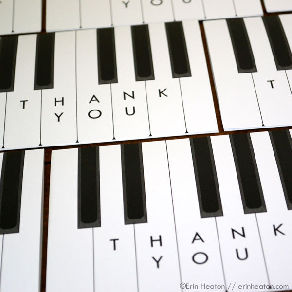 Piano Thank You Card | erinheaton.com
