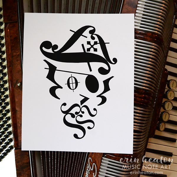 Pirate Music Art Print | erinheaton.com