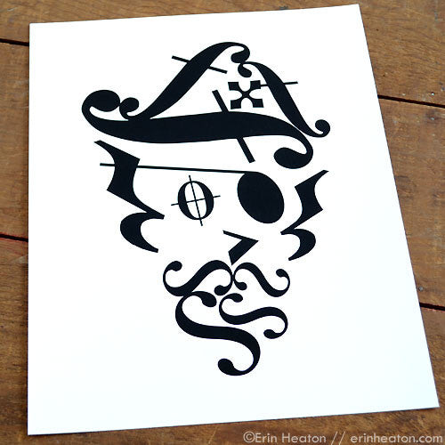 Pirate Music Art Print