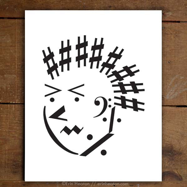 Punk Rock Guy Music Art Print