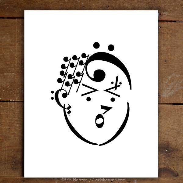 Punk Rock Girl Music Art Print