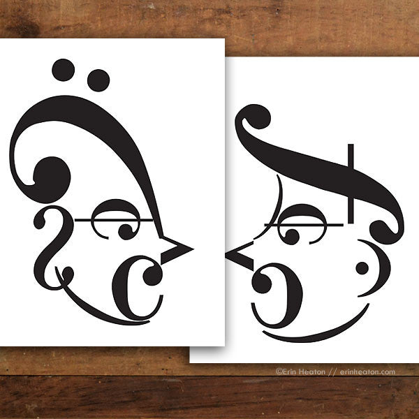 Shouting Couple Music Art Print Set