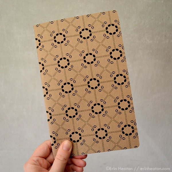 Music note notebook – XO Pattern