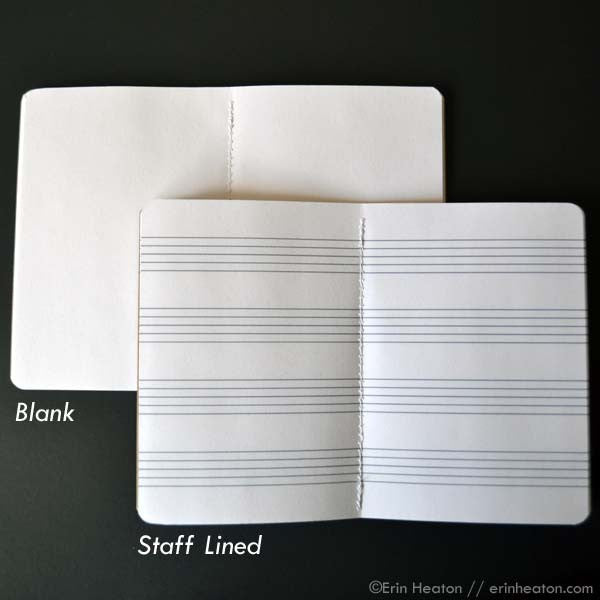 Music note mini notebook – Honeycomb Pattern