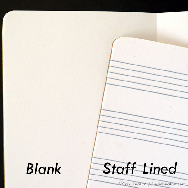 Music note notebook – NOTES – staff paper or blank | erinheaton.com