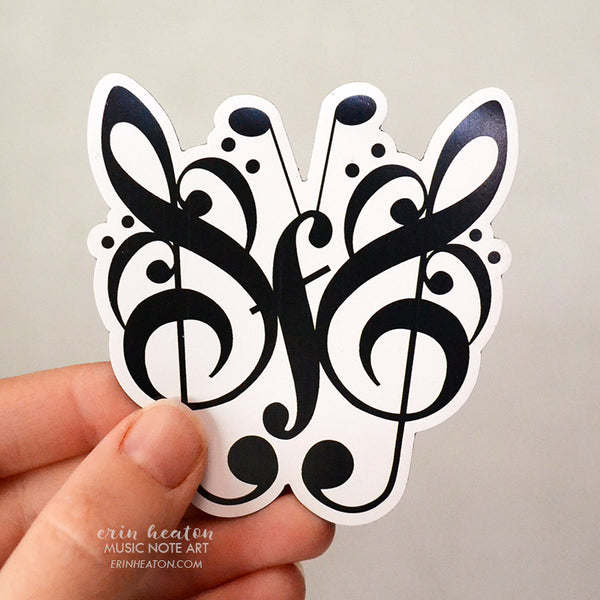 Music Note Butterfly Magnet | erinheaton.com