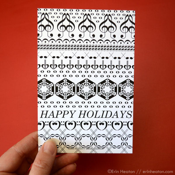 Happy Holidays Music Note Postcards