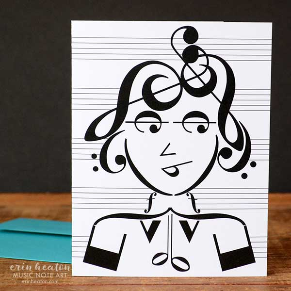 People Music Note Greeting Cards – Set of 8 | erinheaton.com