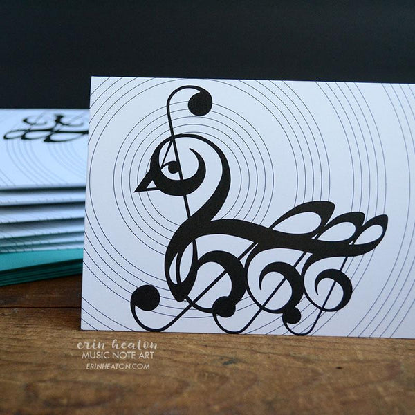 Swan Music Note Card | erinheaton.com