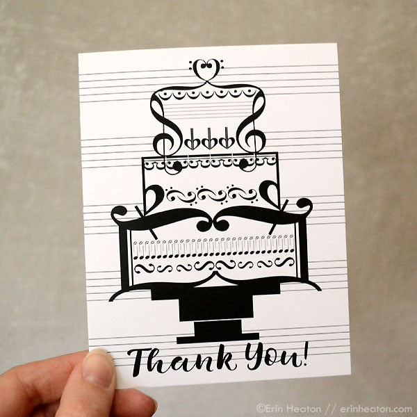 wedding cake thank you notes thank you note treble clef wedding cake erin 26246