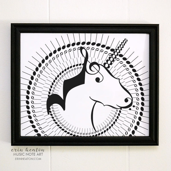 Unicorn Music Note Art Print | erinheaton.com