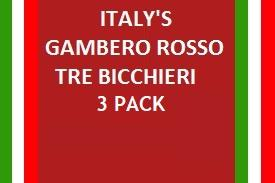 Italy's Gambero Rosso Tre Bicchieri Awarded Edition 3 Pack