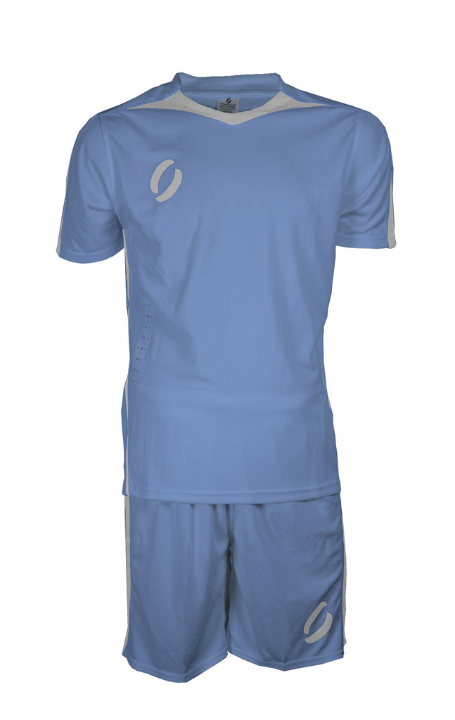 STRIKER playing strip in sky blue/white