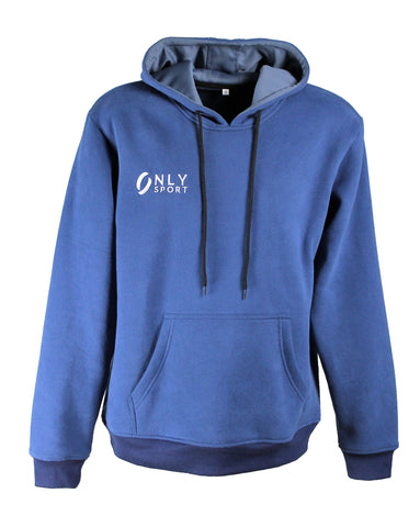 HOODED JUMPER in blue