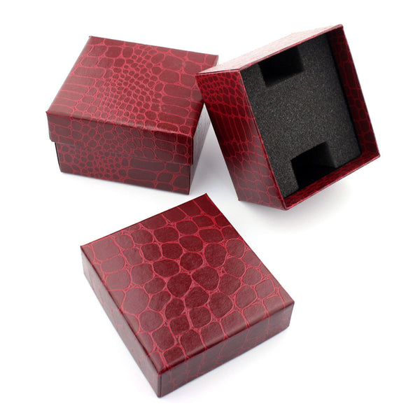 Red Crocodile Style Watch Case