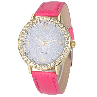 W2 Series - Gold Plated Rhinestone Watch