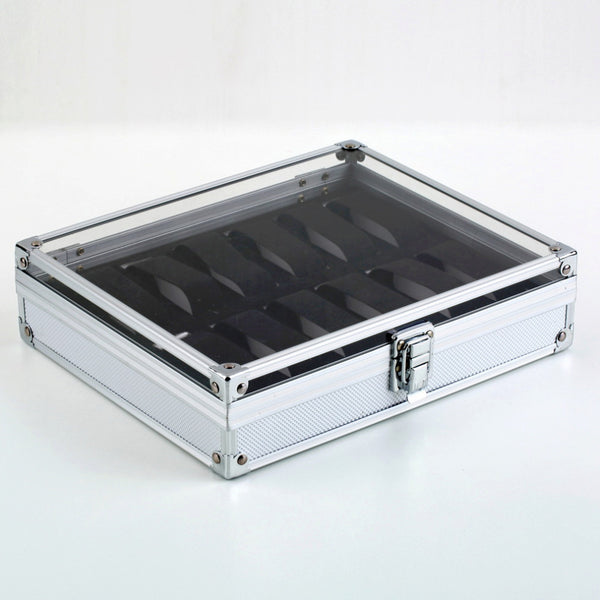 Watch Case 12 Grid Cover Box