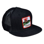 Hawaii Volcano Trucker Hat by LET'S BE IRIE - Black Denim Snapback - Let's Be Irie™