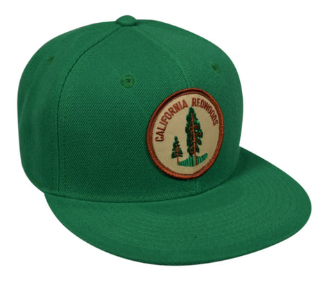 California Redwoods Snapback Hat by LET'S BE IRIE - Kelly Green - Let's Be Irie™