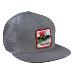 Hawaii Volcano Trucker Hat by LET'S BE IRIE - Gray Denim Snapback - Let's Be Irie™