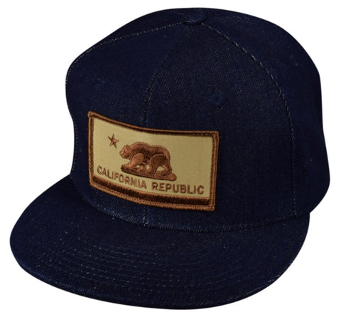 California Republic Flag Snapback by LET'S BE IRIE - Blue Denim - Let's Be Irie™
