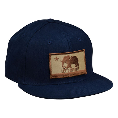LET'S BE IRIE Snapback Hat - California Irie Flag, Navy Blue - Let's Be Irie™