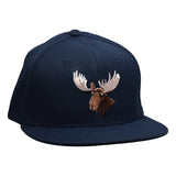 Moose Head Snapback Hat by LET'S BE IRIE - Navy Blue - Let's Be Irie™