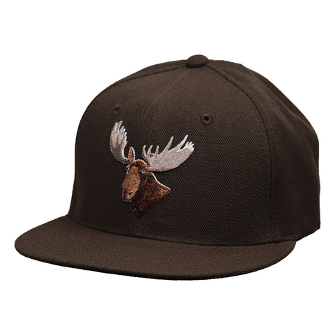 Moose Head Snapback Hat by LET'S BE IRIE - Brown - Let's Be Irie™