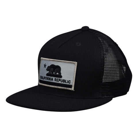 California Republic Flag Trucker Hat by LET'S BE IRIE - Black - Let's Be Irie™