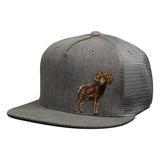 Ram Trucker Hat by LET'S BE IRIE - Gray Denim Snapback - Let's Be Irie™