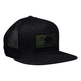 California Republic Trucker Hat - Black Denim Hat by LET'S BE IRIE - Let's Be Irie™