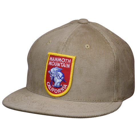 Mammoth Mountain Hat by LET'S BE IRIE - California Vintage Patch Khaki Corduroy