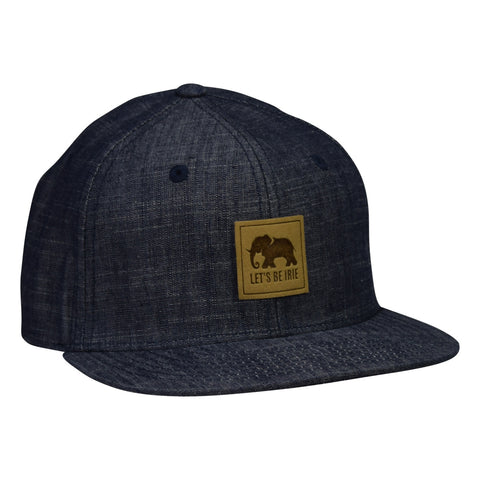 LET'S BE IRIE Elephant Hat - Washed Blue Denim Snapback - Let's Be Irie™