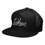 Las Vegas Trucker Hat by LET'S BE IRIE - Black Denim Snapback - Let's Be Irie™
