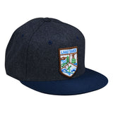 Lake Tahoe Wool Hat by LET'S BE IRIE - Wool, Gray and Navy Blue Snapback - Let's Be Irie™