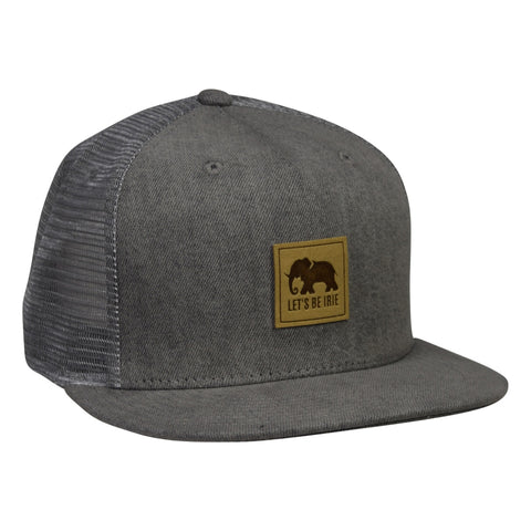 LET'S BE IRIE Elephant Trucker Hat - Gray Denim Snapback - Let's Be Irie™