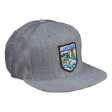 Lake Tahoe Trucker Hat by LET'S BE IRIE - Heather Gray Snapback - Let's Be Irie™