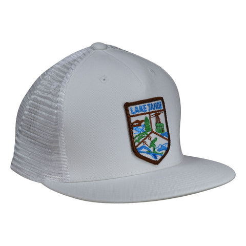 Lake Tahoe Trucker Hat by LET'S BE IRIE - White Snapback - Let's Be Irie™