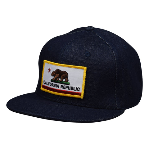 California Republic SnapBack by LET'S BE IRIE - Blue Denim Hat - Let's Be Irie™
