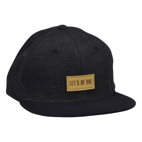 LET'S BE IRIE Melton Hat -  Gray Snapback with Navy Blue Visor - Let's Be Irie™