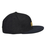 LET'S BE IRIE Melton Hat -  Gray Snapback with Black Visor - Let's Be Irie™