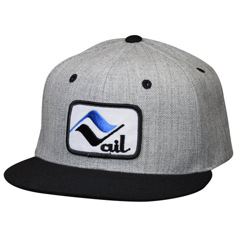 Vail Hat by LET'S BE IRIE - Colorado, Vintage Ski Patch, Heather Gray Snapback