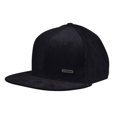 Corduroy Metallic Emblem Hat by LET'S BE IRIE - Black Snapback - Let's Be Irie™