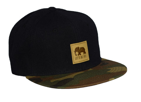 LET'S BE IRIE Snapback - Black and Camo - Let's Be Irie™